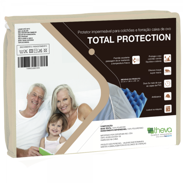 PROTECTOR IMPERMEABLE PARA COLCHÓN TOTAL PROTECTION
