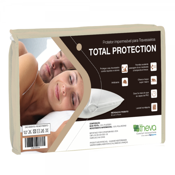 PROTECTOR IMPERMEABLE PARA ALMOHADA TOTAL PROTECTION